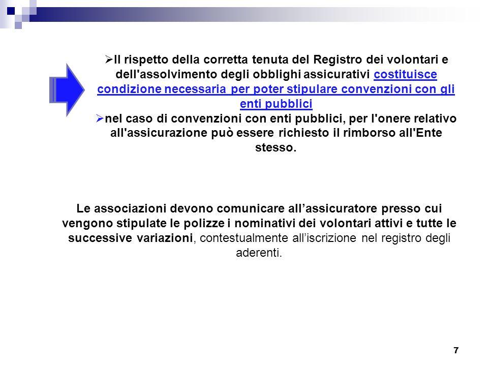 D.M.14 febbraio 1992 art. 1 Le organizzazioni di volontariato di cui alla legge 11 agosto 1991, n.