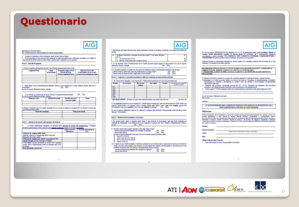 18 Condizioni contrattuali rilevanti nella convenzione CNDCEC 1.