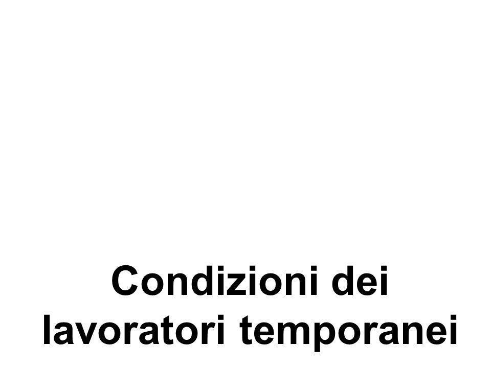 Posizioni differenti Tesi del trampolino di lancio Rapporti non-standard conducono più facilmente e più rapidamente, rispetto allattesa, a occupazioni stabili; aumentano le chance di giungere a un posto fisso, sia pure con importanti differenze tra Italia centro- settentrionale e Italia meridionale (Schizzerotto, Ichino, ecc.)