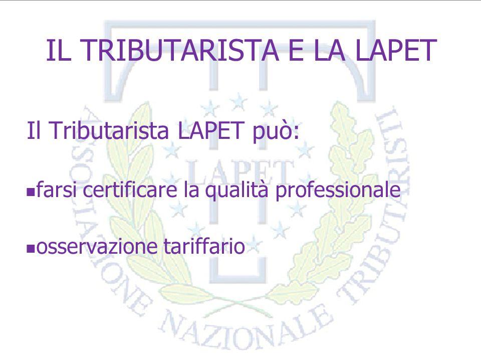 CAF Tributaristi LAPET Il CAF Nazionale Tributaristi s.r.l.