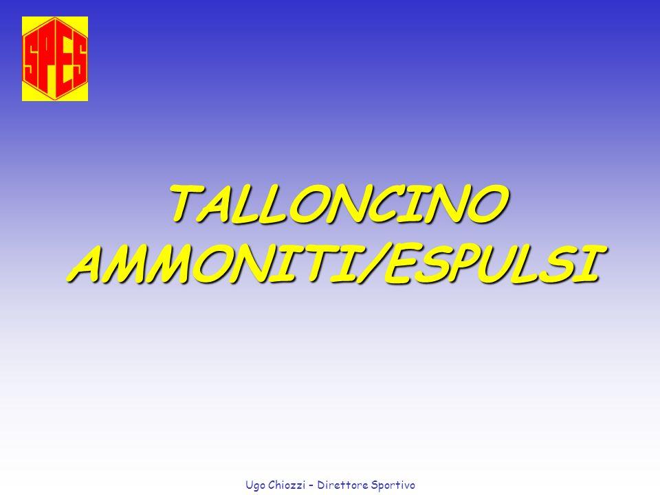 Ugo Chiozzi – Direttore Sportivo TALLONCINO AMMONITI/ESPULSI