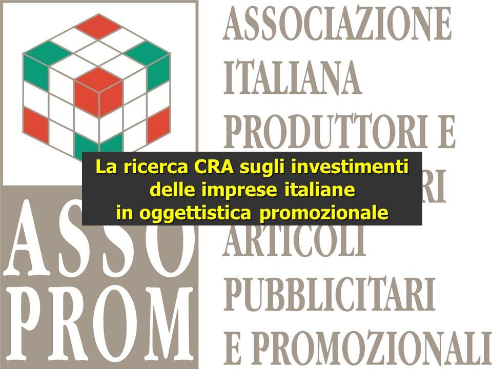La ricerca CRA sugli investimenti delle imprese italiane in oggettistica promozionale