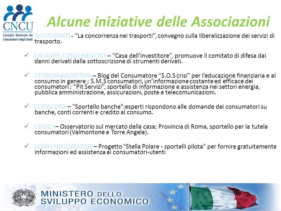 Alcune iniziative delle Associazioni ASSOUTENTI - La concorrenza nei trasporti, convegno sulla liberalizzazione dei servizi di trasporto.