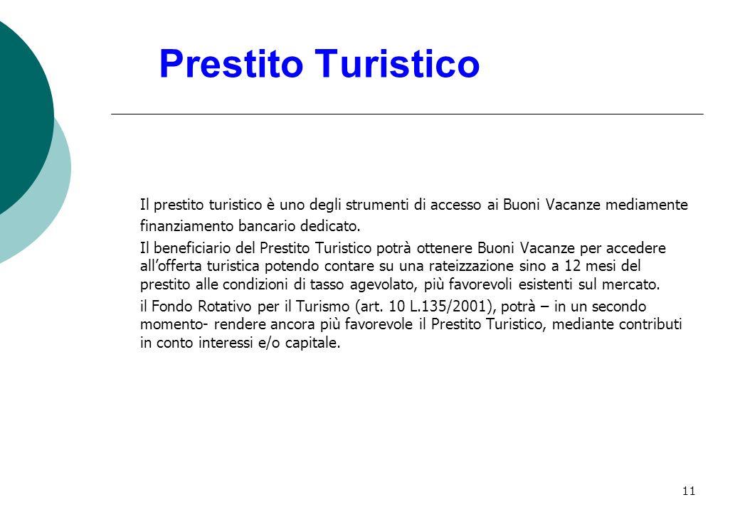 11 Prestito Turistico Il prestito turistico è uno degli strumenti di accesso ai Buoni Vacanze mediamente finanziamento bancario dedicato.