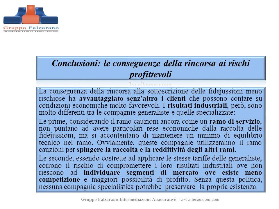La conseguenza della rincorsa alla sottoscrizione delle fidejussioni meno rischiose ha avvantaggiato senzaltro i clienti che possono contare su condiz