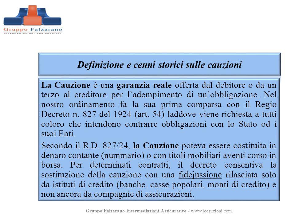 La Cauzione è una garanzia reale offerta dal debitore o da un terzo al creditore per ladempimento di unobbligazione. Nel nostro ordinamento fa la sua