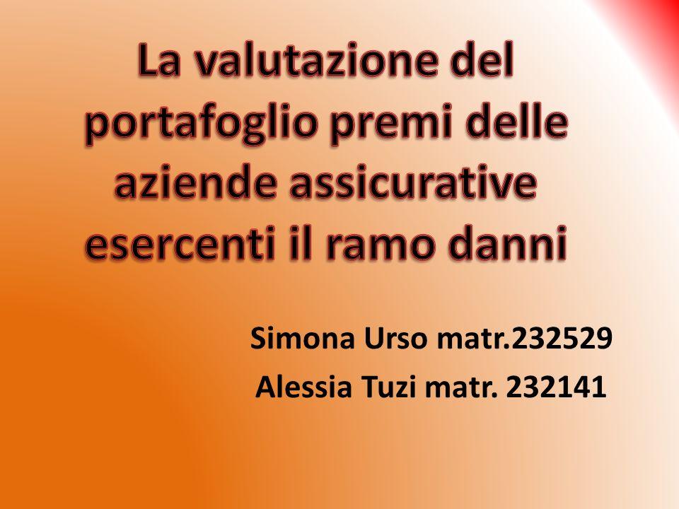 Simona Urso matr.232529 Alessia Tuzi matr. 232141