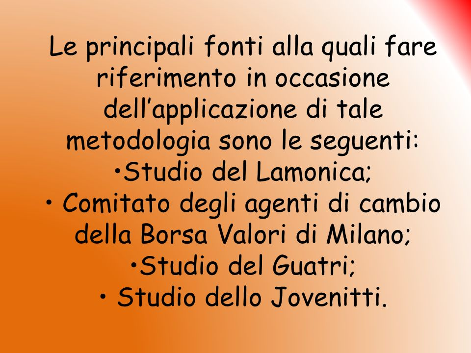 Studio del Lamonica RamiCoefficiente % Trasporti5% -30% Aviazione30% Incendio80% -100% Infortuni35% -50% Furti10% -20% R.C.