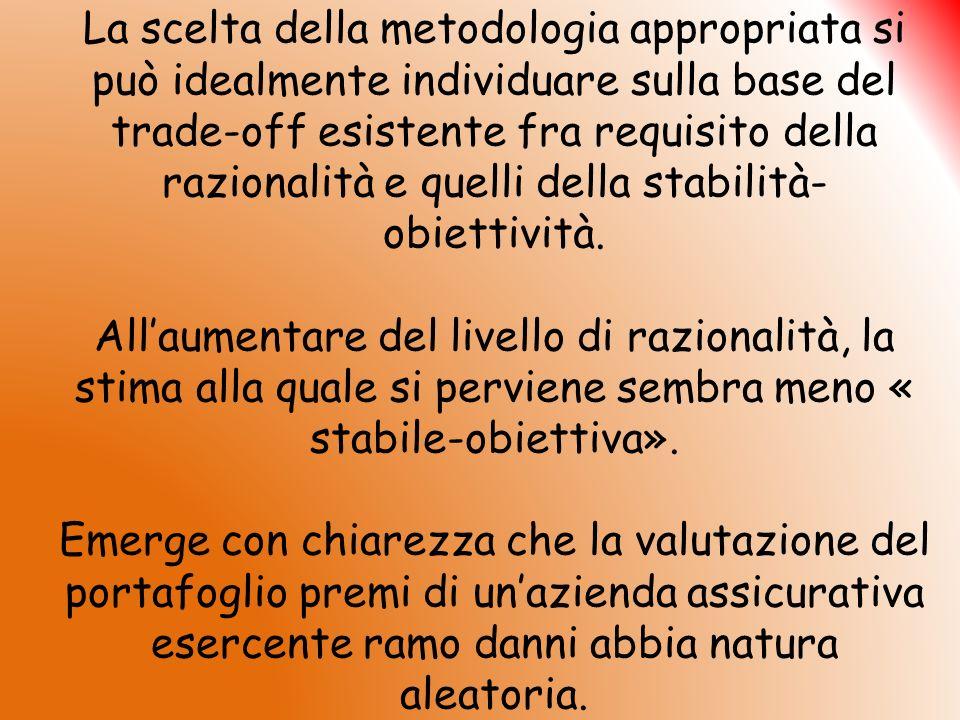 La scelta della metodologia appropriata si può idealmente individuare sulla base del trade-off esistente fra requisito della razionalità e quelli dell