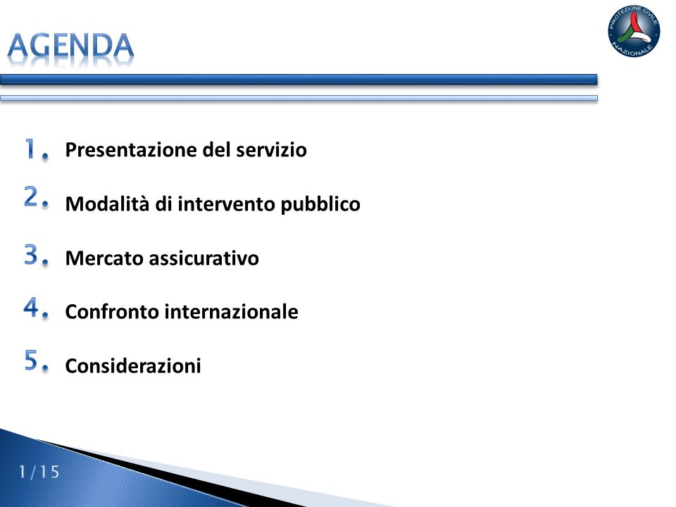 Servizio nazionale della protezione civile Istituito con la Legge n.