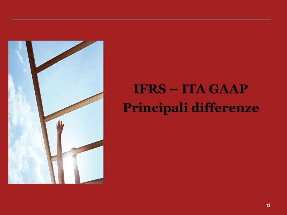 13 IFRS – ITA GAAP Principali differenze