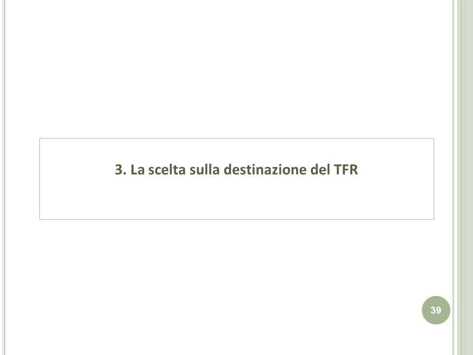 39 3. La scelta sulla destinazione del TFR