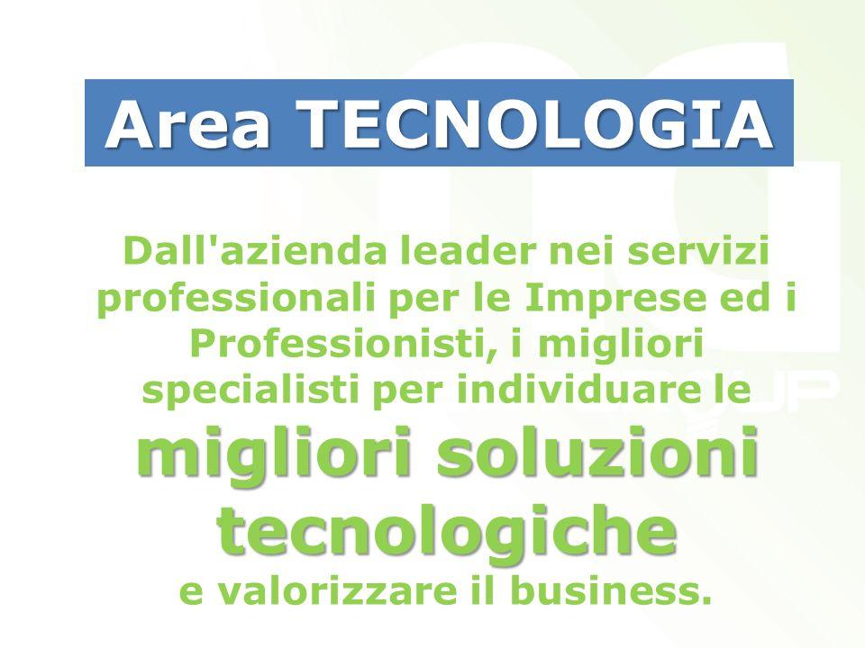 migliori soluzioni tecnologiche Dall azienda leader nei servizi professionali per le Imprese ed i Professionisti, i migliori specialisti per individuare le migliori soluzioni tecnologiche e valorizzare il business.