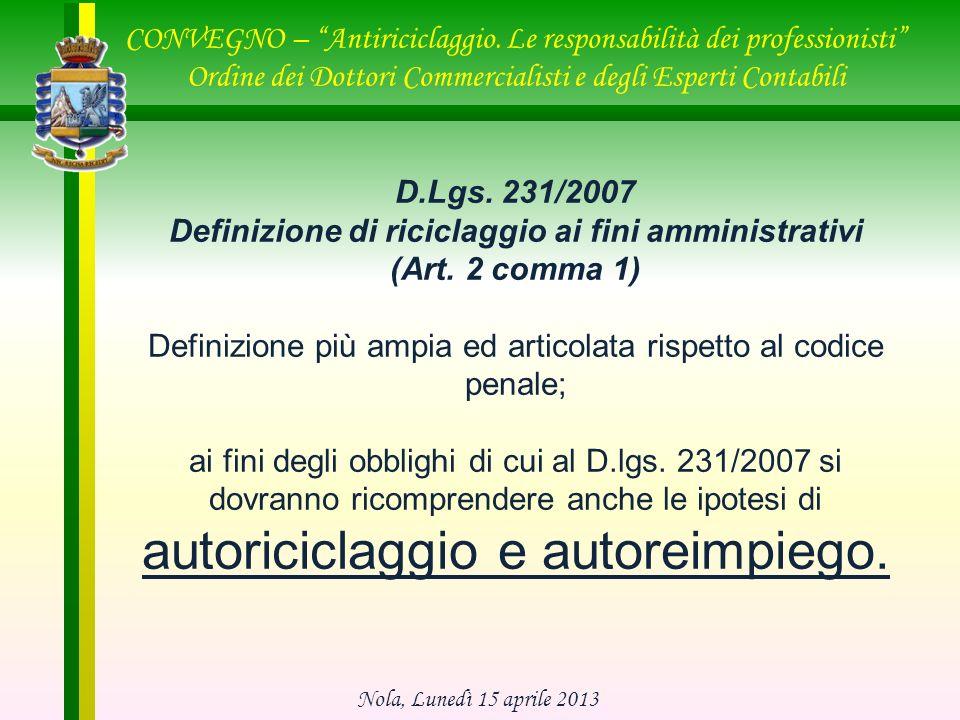 CONVEGNO – Antiriciclaggio.