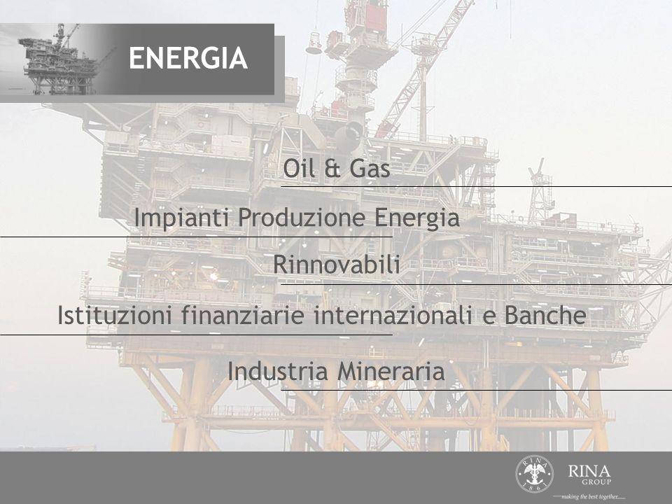 Impianti Produzione Energia Istituzioni finanziarie internazionali e Banche Industria Mineraria Rinnovabili Oil & Gas ENERGIA
