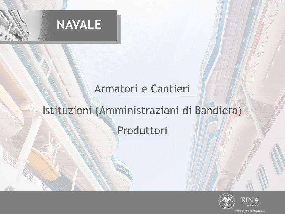 Produttori Armatori e Cantieri Istituzioni (Amministrazioni di Bandiera) NAVALE