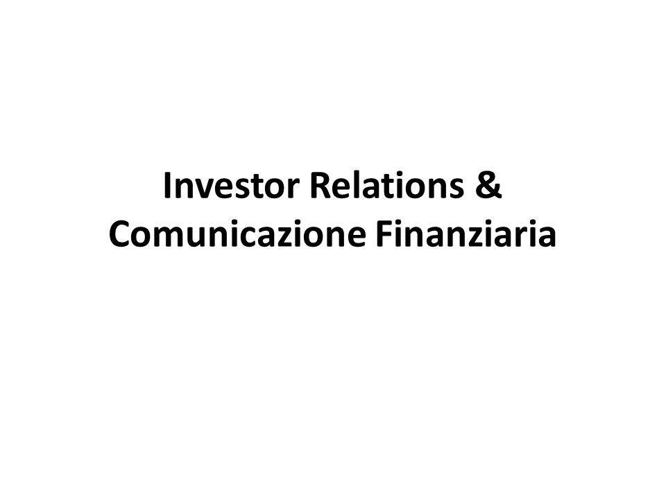 La comunicazione finanziaria Investor Relations Creazione di Valore Saras case study