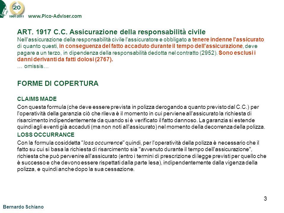 14 b.schiano@pico-adviser.com www.Pico-Adviser.com Bernardo Schiano