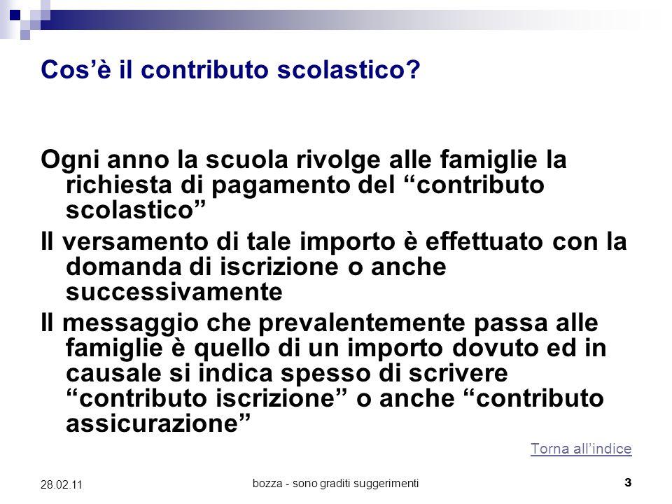 bozza - sono graditi suggerimenti3 28.02.11 Cosè il contributo scolastico.