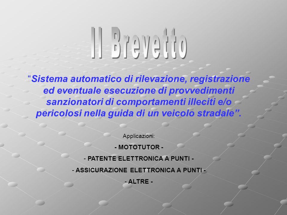 Sistema automatico di rilevazione, registrazione ed eventuale esecuzione di provvedimenti sanzionatori di comportamenti illeciti e/o pericolosi nella guida di un veicolo stradale.