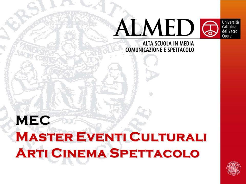 Master Eventi Culturali Arti Cinema Spettacolo MEC Master Eventi Culturali Arti Cinema Spettacolo