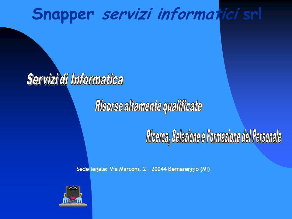 Sede legale: Via Marconi, 2 - 20044 Bernareggio (MI) Snapper servizi informatici srl