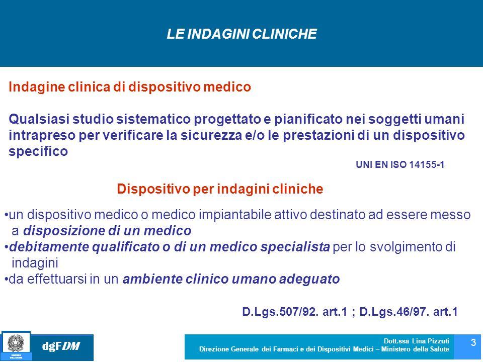dgFDM MINISTERO DELLA SALUTE Dott.ssa Lina Pizzuti Direzione Generale dei Farmaci e dei Dispositivi Medici – Ministero della Salute 3 un dispositivo m