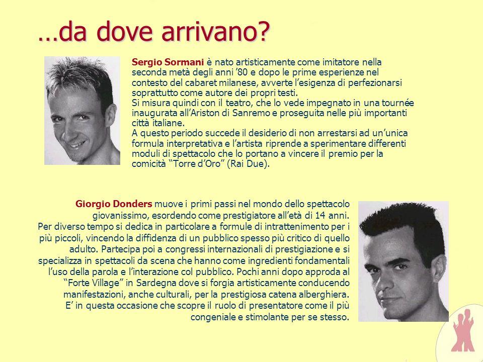 …da dove arrivano? Sergio Sormani è nato artisticamente come imitatore nella seconda metà degli anni 80 e dopo le prime esperienze nel contesto del ca