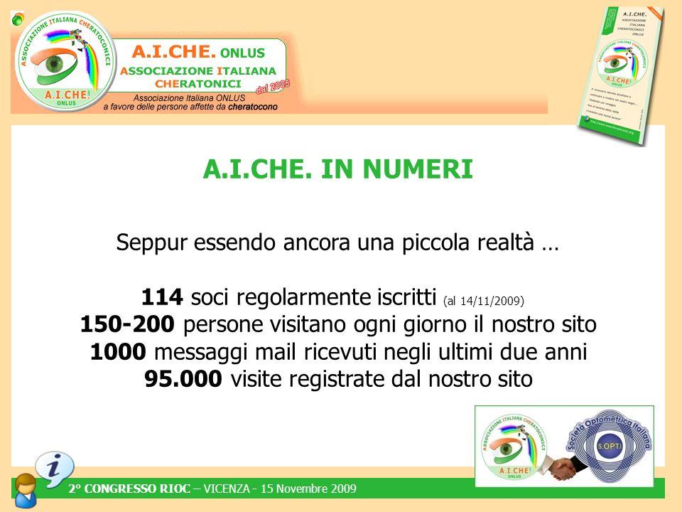 www.assocheratocono.org Informazioni Notizie Articoli (Bacheca) … IL SITO UFFICIALE 2° CONGRESSO RIOC – VICENZA - 15 Novembre 2009