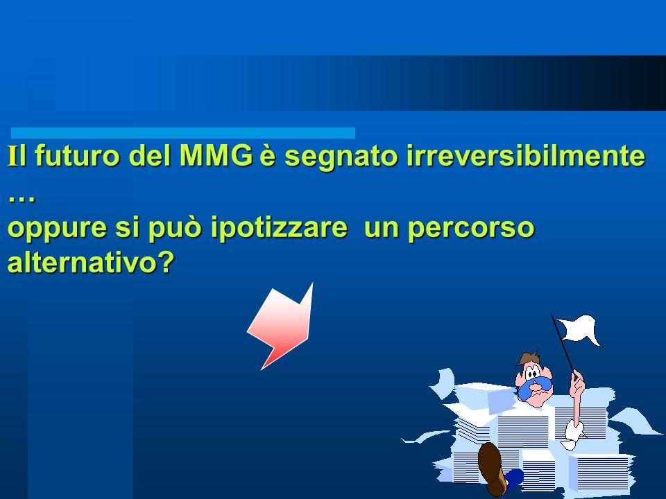 10 I l futuro del MMG è segnato irreversibilmente … oppure si può ipotizzare un percorso alternativo?