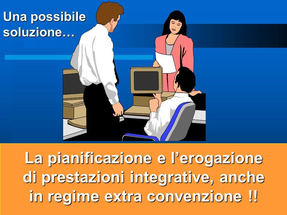 11 La pianificazione e lerogazione di prestazioni integrative, anche in regime extra convenzione !.