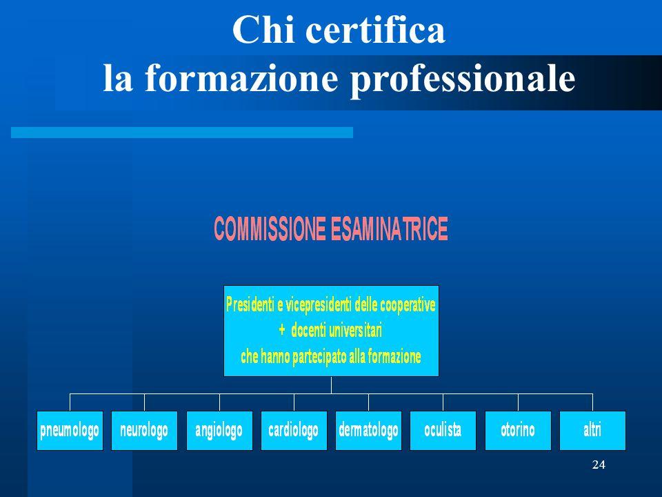 24 Chi certifica la formazione professionale