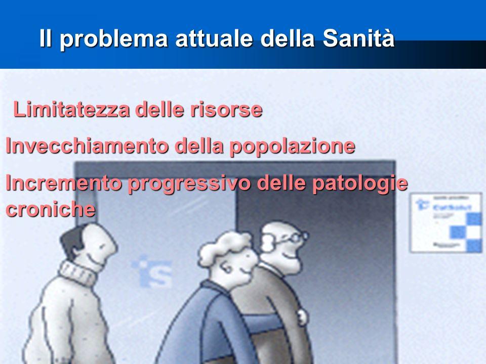 8 Il problema attuale della Sanità Il problema attuale della Sanità Incremento progressivo delle patologie croniche Limitatezza delle risorse Invecchiamento della popolazione