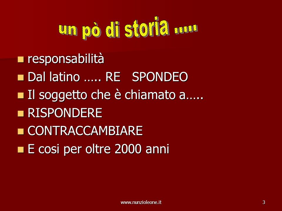 www.nunzioleone.it34 RESPONSABILITA DIRIGENZIALE LA VALUTAZIONE VIENE EFFETTUATA DA ORGANI TERZI CON METODOLOGIE E STRUMENTI COMPLESSI LA VALUTAZIONE VIENE EFFETTUATA DA ORGANI TERZI CON METODOLOGIE E STRUMENTI COMPLESSI RILEVA IL RAPPORTO CHE INTERCORRE TRA COSTI E RENDIMENTI RILEVA IL RAPPORTO CHE INTERCORRE TRA COSTI E RENDIMENTI FA PREMIO LA CORRETTEZZA ED ECONOMICITA DELLA GESTIONE DELLE RISORSE PUBBLICHE AFFIDATE AL DIRIGENTE FA PREMIO LA CORRETTEZZA ED ECONOMICITA DELLA GESTIONE DELLE RISORSE PUBBLICHE AFFIDATE AL DIRIGENTE