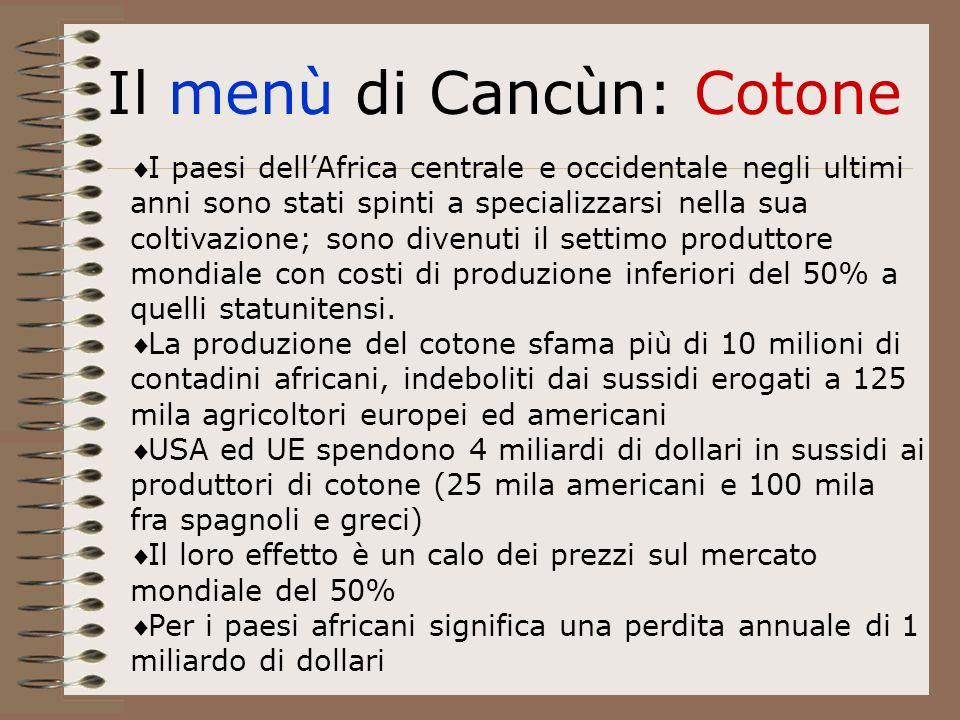 I paesi dellAfrica centrale e occidentale negli ultimi anni sono stati spinti a specializzarsi nella sua coltivazione; sono divenuti il settimo produttore mondiale con costi di produzione inferiori del 50% a quelli statunitensi.