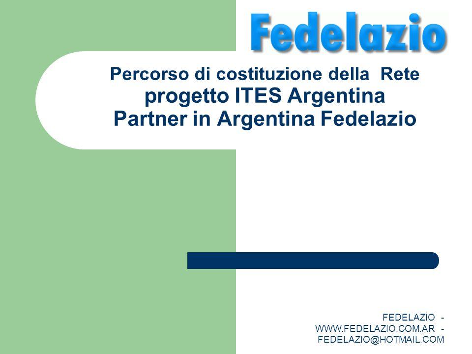 FEDELAZIO - WWW.FEDELAZIO.COM.AR - FEDELAZIO@HOTMAIL.COM Percorso di costituzione della Rete progetto ITES Argentina Partner in Argentina Fedelazio