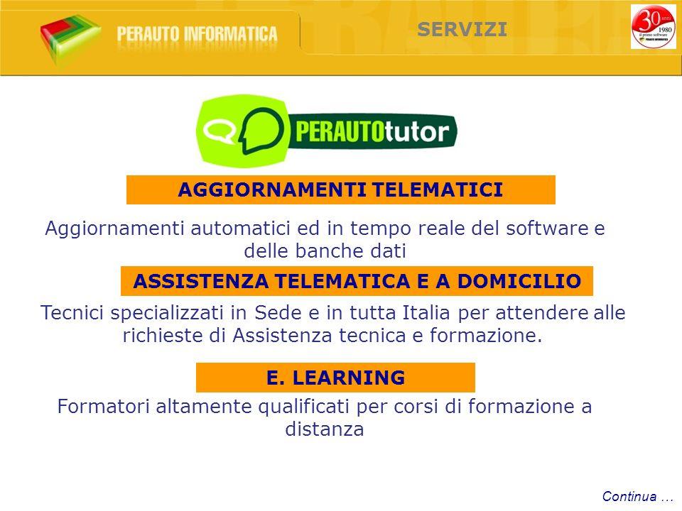 Aggiornamenti automatici ed in tempo reale del software e delle banche dati Tecnici specializzati in Sede e in tutta Italia per attendere alle richieste di Assistenza tecnica e formazione.