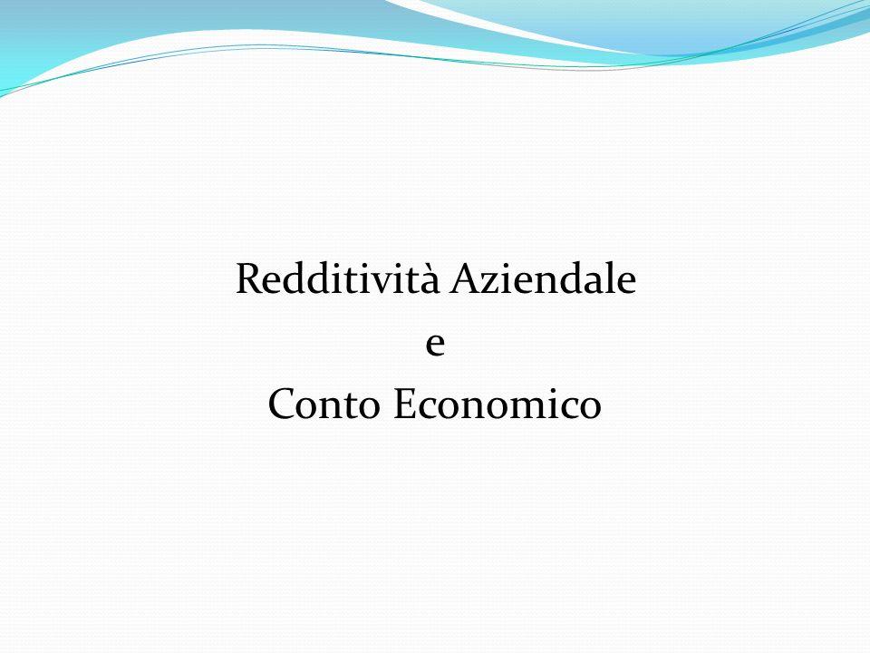 Redditività Aziendale e Conto Economico