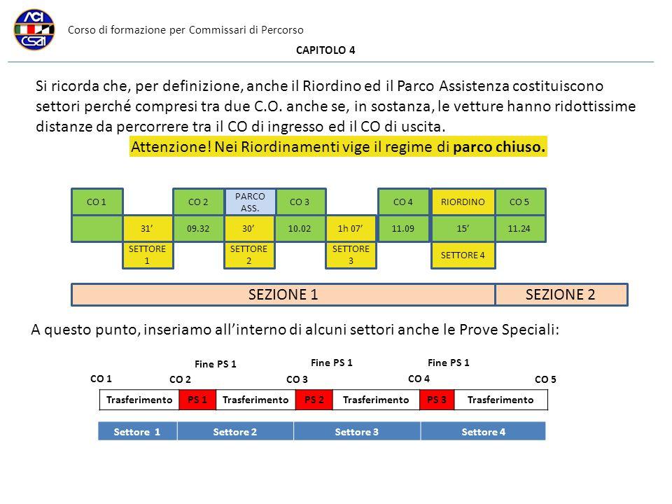 Corso di formazione per Commissari di Percorso CAPITOLO 4 Si ricorda che, per definizione, anche il Riordino ed il Parco Assistenza costituiscono sett