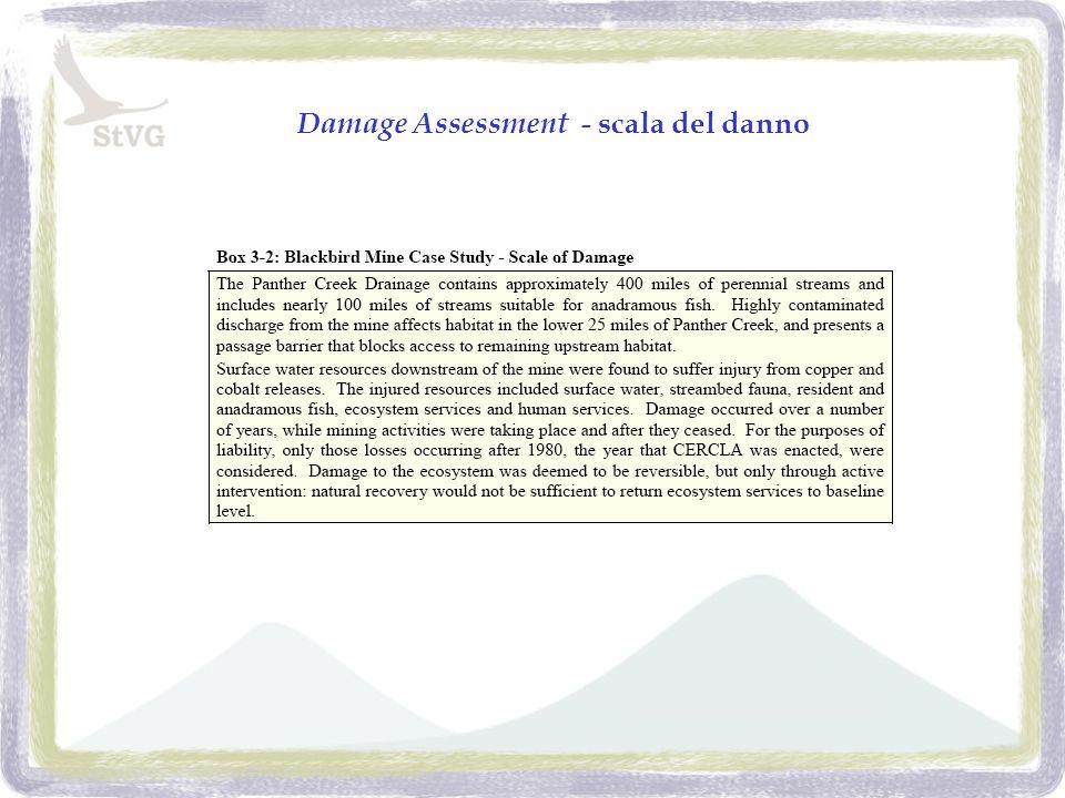 Damage Assessment - scala del danno