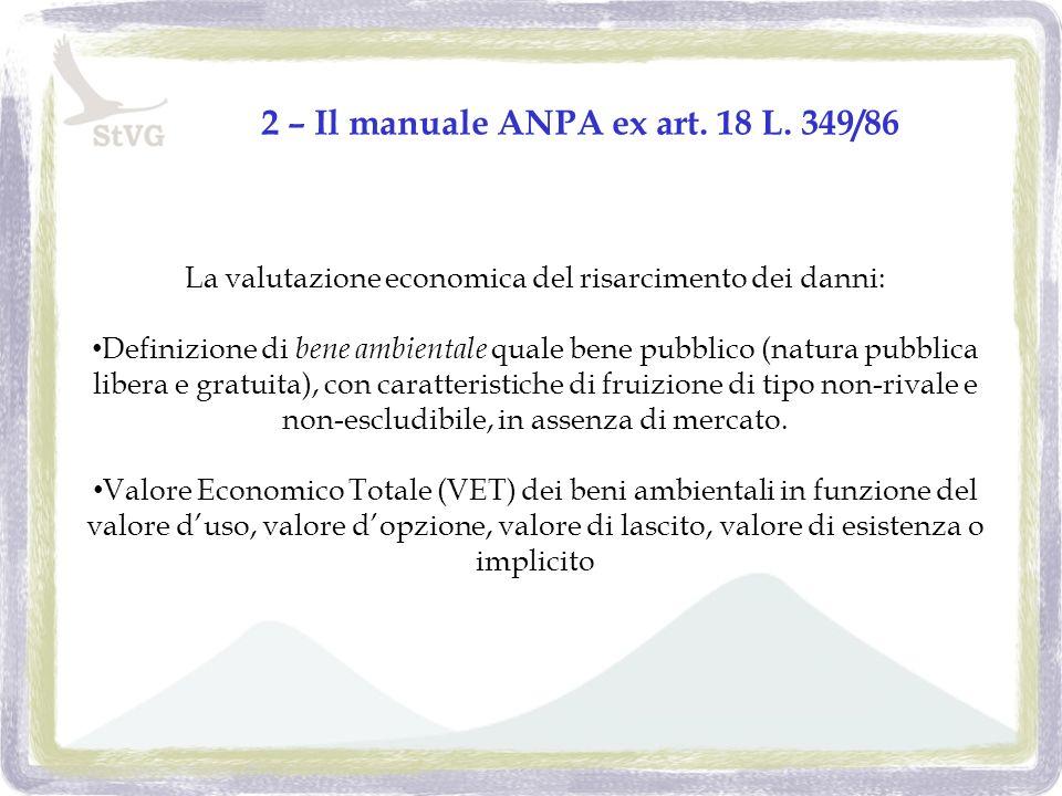 2 – Il manuale ANPA ex art. 18 L.