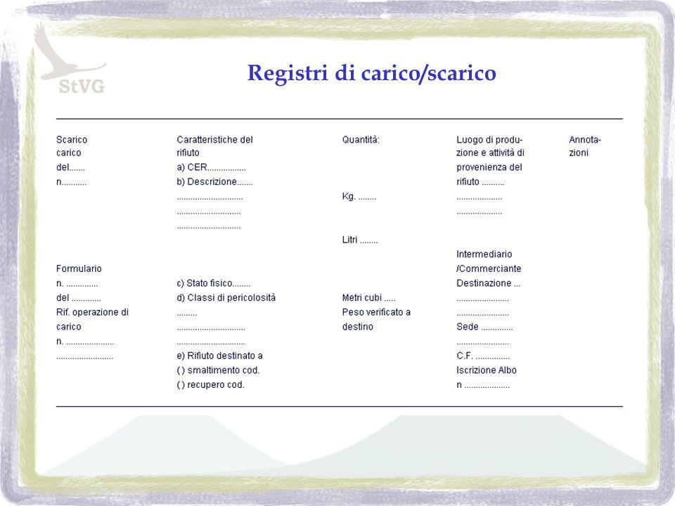 Registri di carico/scarico