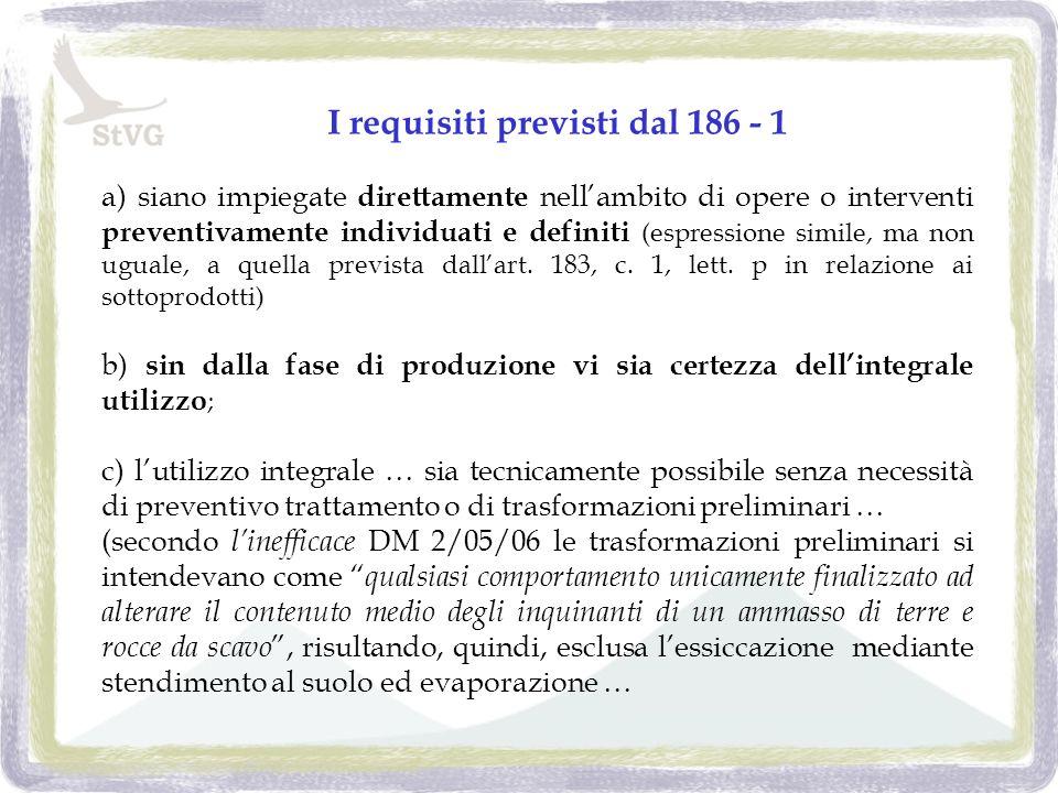 a) siano impiegate direttamente nellambito di opere o interventi preventivamente individuati e definiti (espressione simile, ma non uguale, a quella prevista dallart.