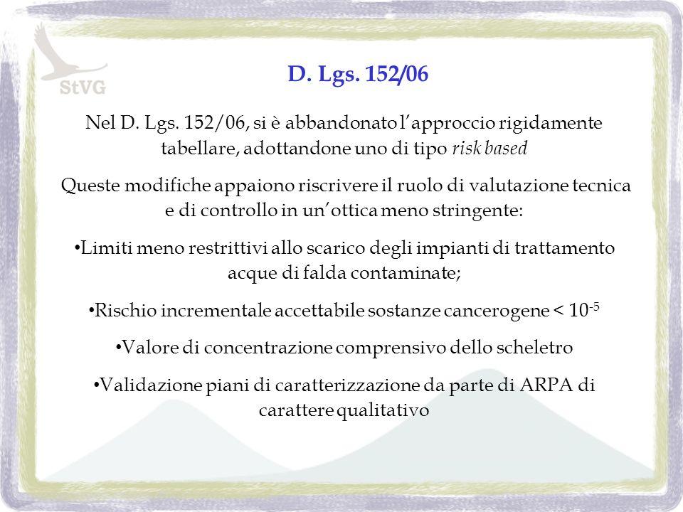 D. Lgs. 152/06 Nel D. Lgs.