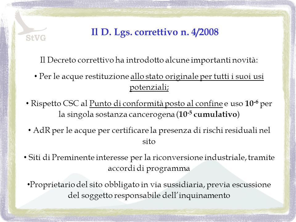 Il D. Lgs. correttivo n.