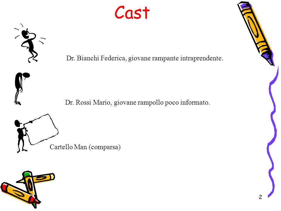 2 Cast Dr.Bianchi Federica, giovane rampante intraprendente.