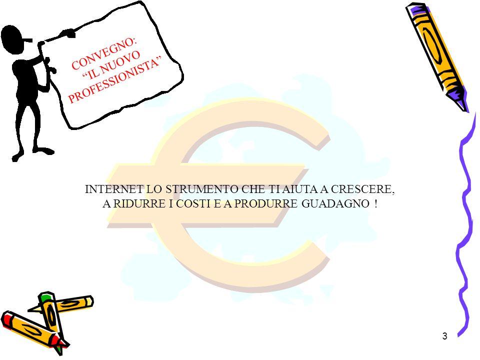 3 INTERNET LO STRUMENTO CHE TI AIUTA A CRESCERE, A RIDURRE I COSTI E A PRODURRE GUADAGNO .