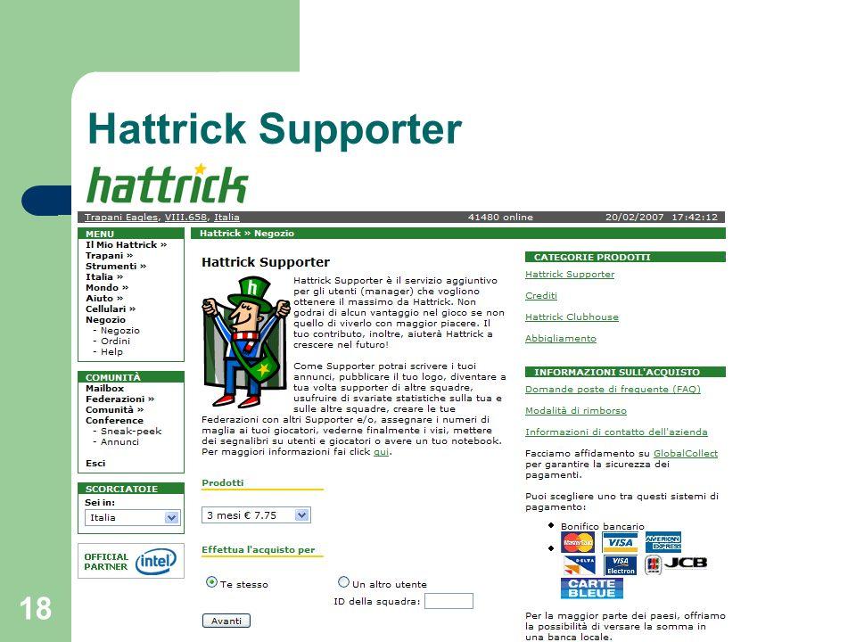 18 Hattrick Supporter