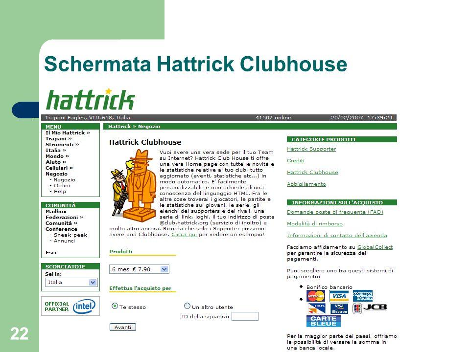 22 Schermata Hattrick Clubhouse