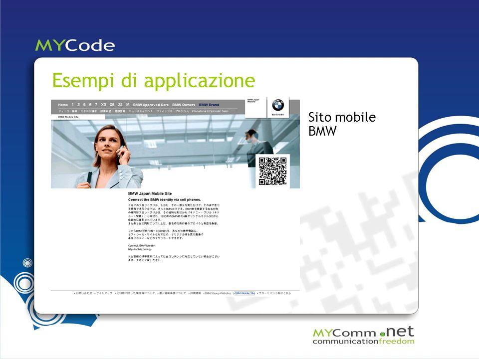 Esempi di applicazione Sito mobile BMW